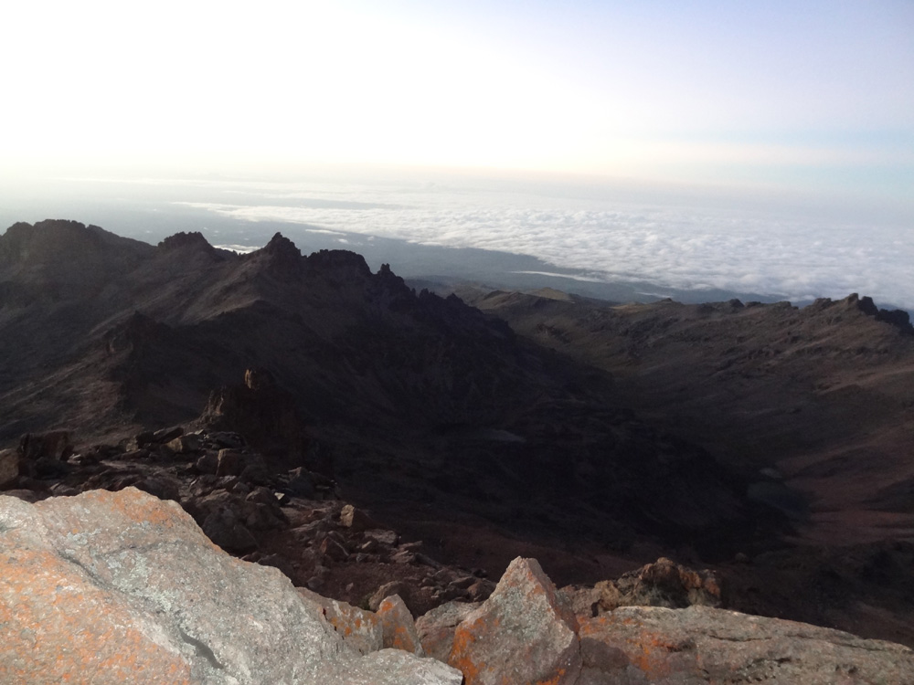 Lenana peak Mt Kenya, 4985m sunrise