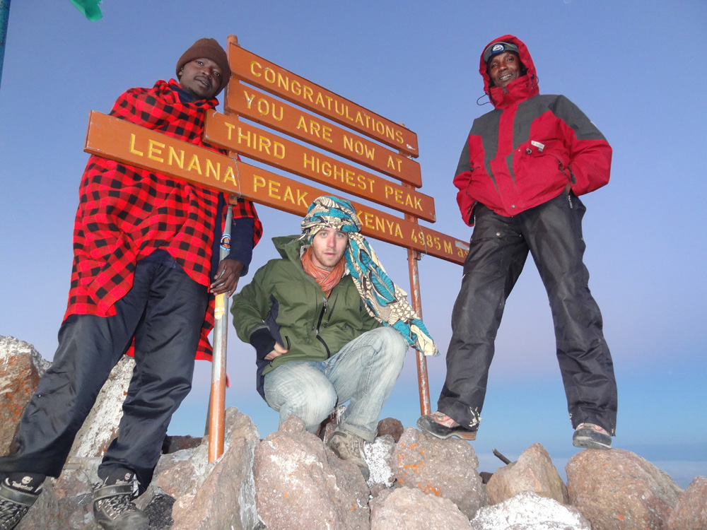 Mount Kenya, Lenana Peak, Blake, Kirimi and John