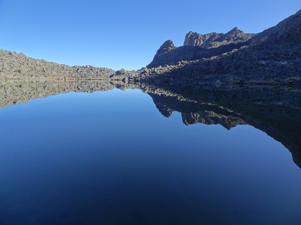 Mountain tarn on Mount Kenya