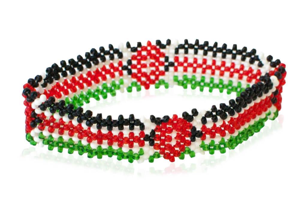 Kenya flag bracelet