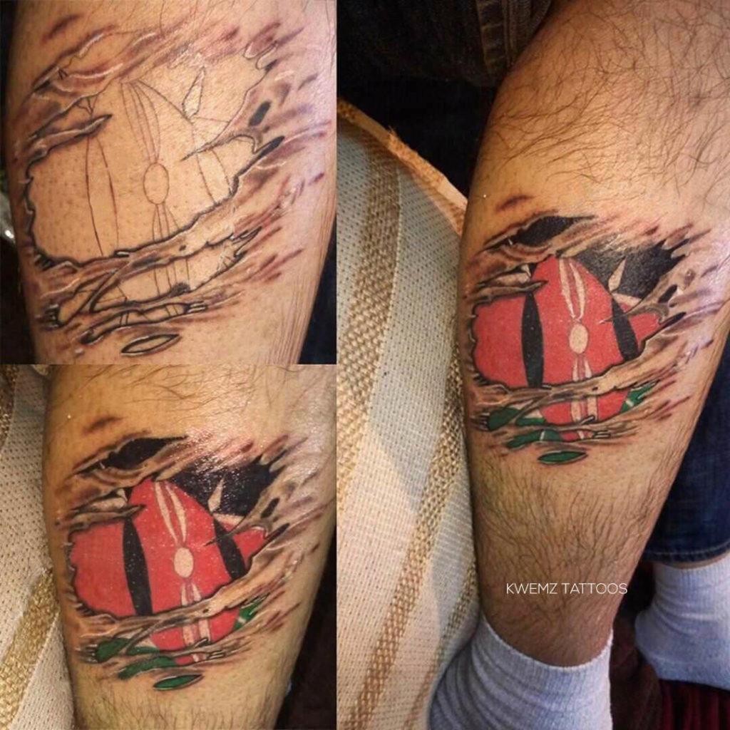 Kenyan flag tattoo
