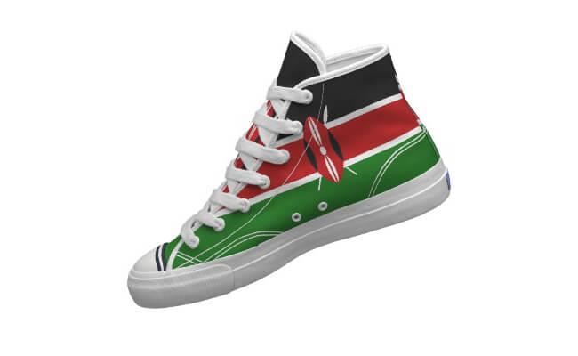 Shoe Kenya national flag design